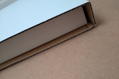 Close up of Picture Frame Mailer end with protection zone built in